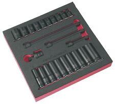 Trident T935010 24pc ½ inch drive metric deep and standard impact socket set