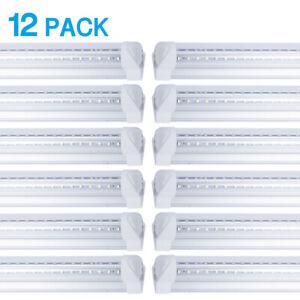 4FT 48W Led Shop Light Fixture Daylight White T8 Integrated Led Bulbs Tube Light