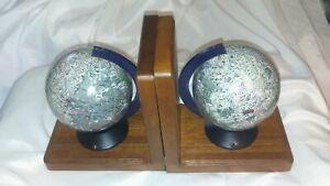 Vintage Lunar Globe Bookends