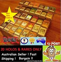 YuGiOh! [ 20 Rares & HOLOS ONLY ] Bulk Cards Pack  GENUINE KONAMI