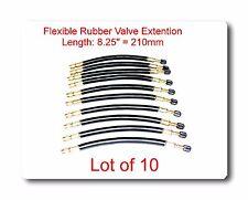 "10 Kits Flexible EPDM Rubber Tire Valve Stem Extension 8.25"" / 210mm  Φ12/10mm"