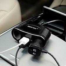 BESTEK 2 Way Car Socket Cigarette Lighter Splitter Adapter 2 USB Power Charger