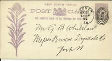 "New South Wales Private Printed Postalcard Hg:9a ""Burns Club"" Sydney Mr/30/92"
