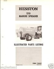 Farm Manual - Hesston - 1510 - Manure Spreader - Parts List (FM242)