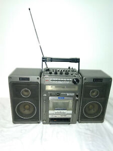 Hitachi TRK-9140E Cassette Radio Vintage Ghettoblaster Boombox Stereo Receiver