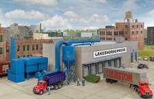 4079 Walthers Cornerstone Modern Concrete Printing Plant Industrial Warehouse HO