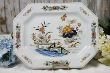 "Wedgwood Lotus Platter Tray 11"" x 14"" Blue Rust Georgetown Collection England"