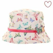 Confezione da 2 Ragazze Sole Cappelli FARFALLA A Pois Secchiello Stile Pescatore Estivo Bambino
