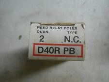 (U2-3) 1 BOX OF 2 NEW CUTLER HAMMER D40RPB REED RELAY POLES
