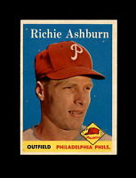 1958 Topps Baseball #230 Richie Ashburn (Phillies) EXMT
