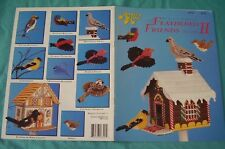 Buy 4=Free Ship Plastic Canvas book Feathered Friends volume Ii Bird house birds