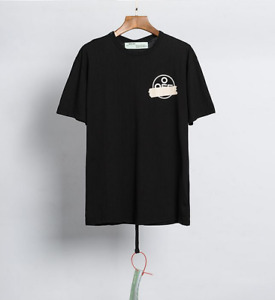 OFF WHITE OW  Unisex Casual T-Shirt Square Arrow Print Short Sleeve Tee Top UK