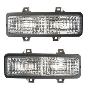 Corner Signal Lights Pair Set for 89-91 Chevy Truck/Suburban/Blazer Left & Right