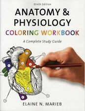 Anatomy & Physiology Coloring Workbook: A Complete Study Guide [9th Edition] [ M
