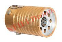 New Universal Aluminium Golden Inlet Car Exhaust Silencer Pipe Tail Muffler AUD