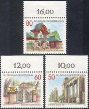 Germany (B) 1986 Gates/Architecture/Elephants/Buildings/Art/Craft 3v set n28087