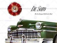 ADVERT CAR CLASSIC AUTOMOBILE DE SOTO HOOD GRILL FINE ART PRINT POSTER BB6709