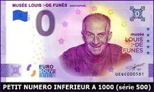 UEQC-2 / MUSEE LOUIS DE FUNES / BILLET SOUVENIR 0 € / 0-EURO-SCHEINE / 2020-2*