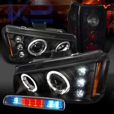 03-06 Silverado Halo Projector Headlights+Piano Black Tail Lamps+LED 3rd Stop