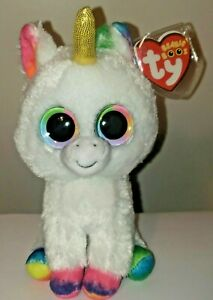 Ty Beanie Boos - PIXY the Unicorn (GOLD HORN)(6 Inch) NEW - MINT with MINT TAGS