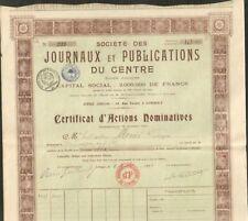 JOURNAUX & PUBLICATIONS DU CENTRE (LIMOGES) (A)