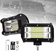 2 X 72W LED Luz Barra de luces de trabajo para Camión SUV Barco Lámpara Nuevo