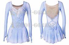 New listing Girl latin Rumba Ice Figure Skating Dress Competition Skating light blue