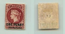 St Helena 1868 SC 18 mint perf 12 1/2 OG wmk 1 crown and CC 14 mm . f2025