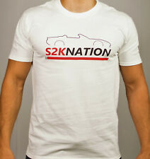 New HONDA S2000 T-SHIRT WHITE S2KNATION ENGINE START BUTTON JDM VTEC  AP1 AP2