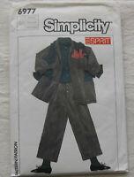 Vintage Jacket & Pants Sewing Pattern*Simplicity 6977*Size 14-16*UNCUT/FF*ESPRIT