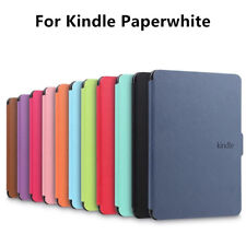 For Amazon 1/2/3 Cover Kindle Paperwhite Leather Case Smart Magnetic Slim Cover.