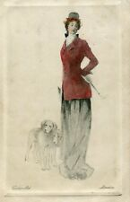 POSTCARD - VERDIER LTD - SERIES 111 - LADY & DOGS  - POSTED 1909