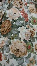 Vintage French Country Chic Chou roses Triple Plis/doublé/MTM lin pr rideaux...