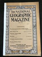1910-06 JUNE NATIONAL GEOGRAPHIC: BC CANADA GLACIERS-FINLAND-COSTA RICA-PEARY