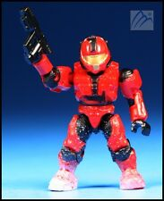 HALO MEGA BLOKS UNSC CQB SPARTAN SNOWBOUND RED W/ SOCOM GUN MINI FIGURE