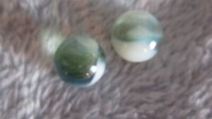green clearie white opaque patch marbles (2)