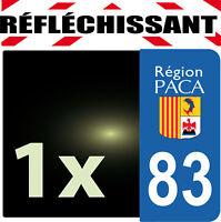 DEPARTEMENT 83 réfléchissant Plaque Auto 1 sticker autocollant reflectif