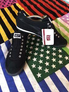 ASICS Onitsuka Tiger Shoes MEXICO 66 SLIP-ON Black SZ 9