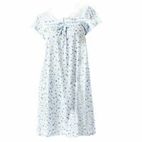 Ezi Women's Cap Sleeve Floral Nightgown