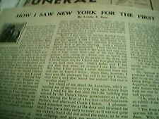 newspaper article 4 pages louise e dew 1907 new york first time