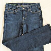 J CREW Jeans size 27 Stretch Bootcut denim Dark Rinse Women's 32 long