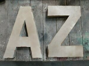 "Individual Metal Letter wall decor Large 18"" vintage letters industrial A-Z new"