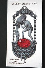 AQUARIUS Zodiac Sign 1920's Vintage Charm Card CAT A