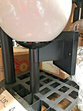 "(1) Modern 8"" Ball Poly Lantern Wall Light Lamp Waterproof Street Square Porch"