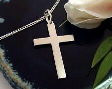 Kreuz Anhänger Silber 925 Sterlingsilber Kreuz Silber massiv matt Herren st10