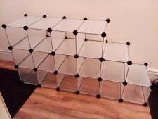 Songmics Storage Cube Eco Freindly PP plastic Semi Transparent 16 Cube Storage