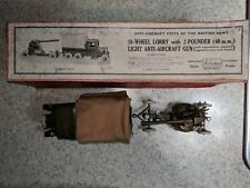 Britains No. 1832 10 Wheel Lorry and 2-Pounder Anit-Aircraft Gun w/driver OB