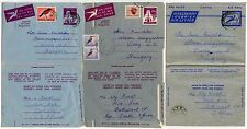 SOUTH AFRICA AIRLETTERS STATIONERY to HUNGARY 1967...3 DIFFERENT