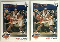 2 Card Lot 2019-20 Kobe Bryant Panini NBA Hoops #282 Hoops Tribute Lakers