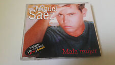 "MIGUEL SAEZ ""MALA MUJER"" CD SINGLE 3 TRACKS COMO NUEVO"